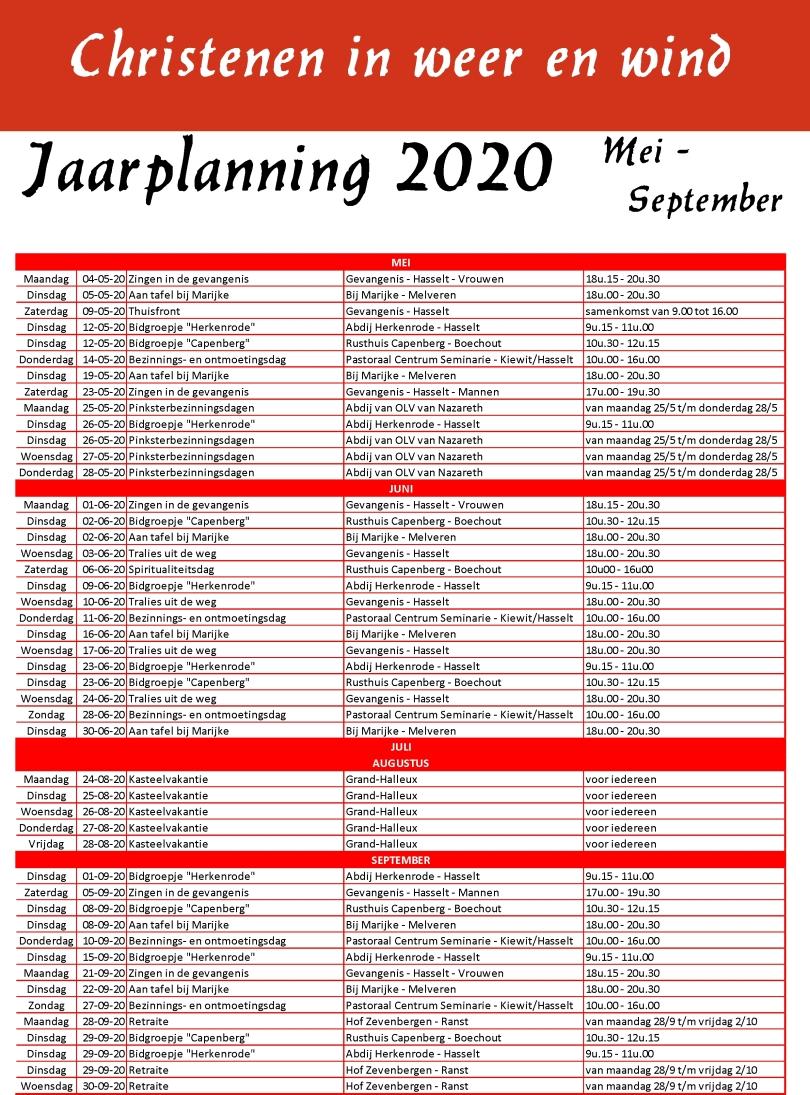 Jaarplanning 2019-2020-3